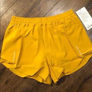 Lululemon yellow high waisted shorts size 10